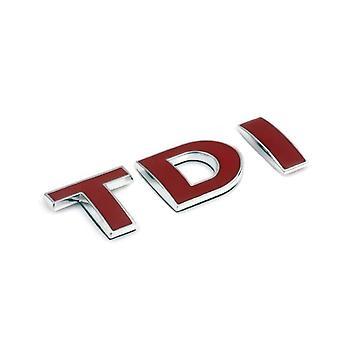 Red TDI Rear Fender Front Grill Bonnet Badge Emblem Boot For Volkswagen, Audi, Skoda, Seat
