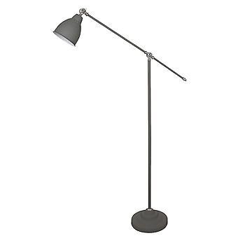 Lámpara de pie industrial y retro gris 1 luz , E27