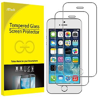 Jetech 2-pack screen protector for iphone se 2016 (not for 2020) iphone 5s 5c 5,tempered glass film