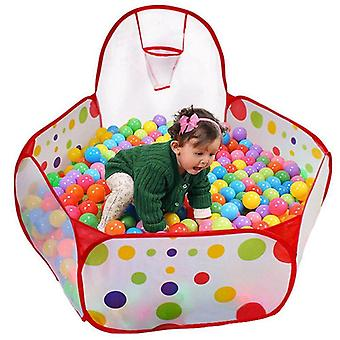 Folding Playpen Ocean Pool Ball Game - Portable Play Outdoor House Tent Toy