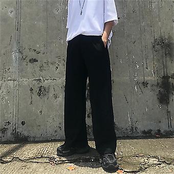 Men Pants Full Length, Wide-leg, Streetwear Trousers, High Waist