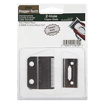 Stagger-tooth 2-hole Clipper Blade