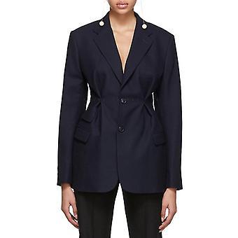 Women Streetwear Tunic High Waisted Long Sleeve Blazer Coat