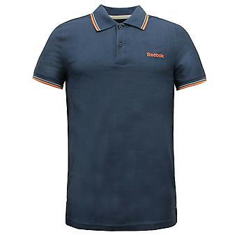 Reebok El Tipped Pique Polo Herren T-Shirt Smart Casual Blau B85966 A4C