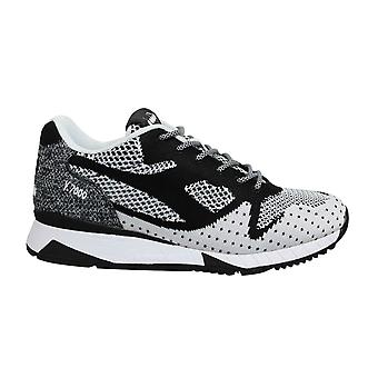 Diadora V7000 Weave II Black White Low Lace Up Mens Running Trainers C0641