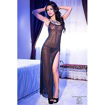 Vestido largo CR4086 tamaño negro: XL