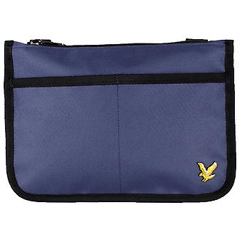 Lyle and Scott Flat Pouch Bag - Navy