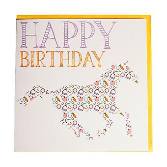 Gubblecote Thoroughbred Whimsy Birthday Card