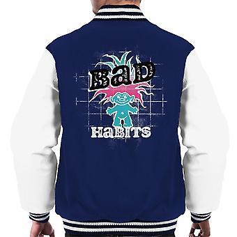 Trolls Bad Habits Pink And Blue Gradient Hair Men's Varsity Jacket
