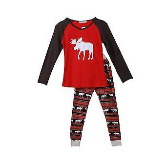 Family Christmas Pajamas Set Adult Kids Mommy Sleepwear Nightwear Family
