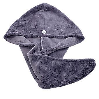 Magic Microfiber Hair Drying Towel Wrap Turban Head Hat Bun Cap Shower