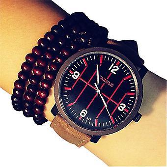 YAZOLE 323 Fashion Men Quartz Watch Casual Luminous Leather Strap Sport Watch