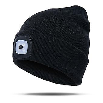 Autumn Winter Led Lighted Cap Warm, Beanies Outdoor Fishing, Running Hat
