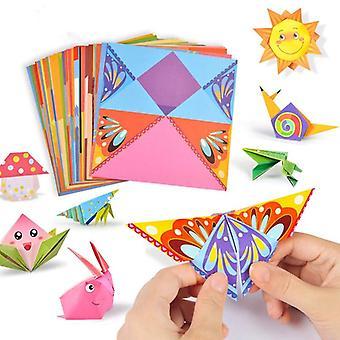 54pcs Craft Cartoon Animal Origami Paper Cutting Book