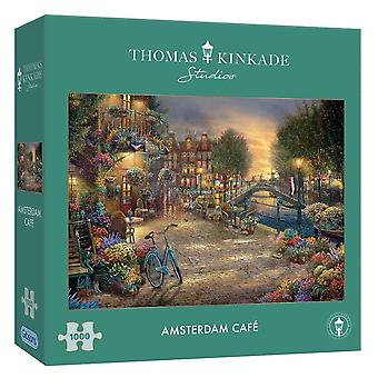 Gibsons 1000 Piece Kinkade Amsterdam Cafe Jigsaw Puzzle