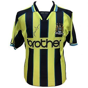 Manchester City Dickov signerad tröja