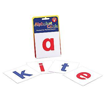 Cartas alfabéticas, letras de minúsculas A-Z