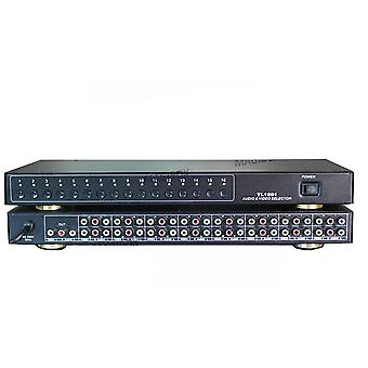 Audio Video Selector 16 Inputs  1 Outputs Video Switcher