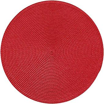 Round Woven Pp Placemats Waterproof Dining Table Mats, Non-slip Tableware