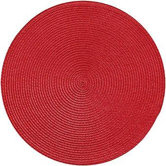 Okrúhle tkané Pp Placemats Vodotesné jedálenské stolové rohože, protišmykový riad