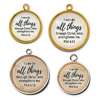 I Can Do All Things Through Christ - Phil 4:13 Scripture Charm
