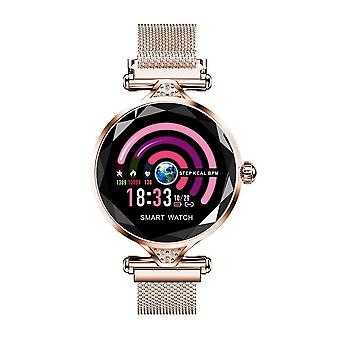 H2 Fashion Women Bracelet Bangles Gold Watch Fitness Activity H8 Band H1