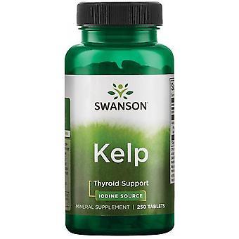 Swanson Kelp Jod Źródło Suplemento 250 Tabletas