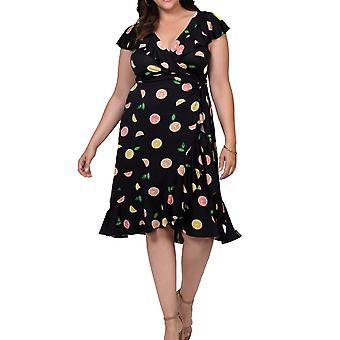 Kiyonna | Phoebe Flounce Wrap Dress