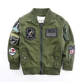 Fiú kabát hadsereg zöld bombázó széldzseki őszi kabát