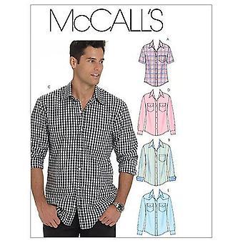 McCalls نمط الخياطة 6044 الرجال الكبار القمصان حجم XL-XXXL