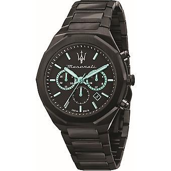 Maserati R8873644001 Stile Homme - Aqua Edition Black Bracelet Montre-bracelet