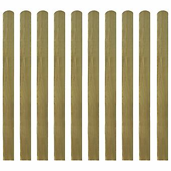 10 impregnated fence boards, wooden garden fence boards