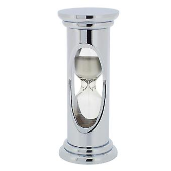 GTP Unisex 98x32mm Chrome Plated on Alloy Glass 3 Minute Sand-Timer IMP803/S