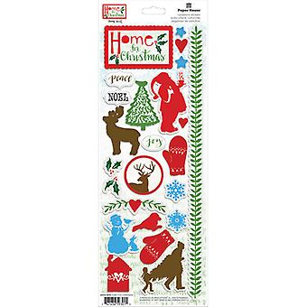 Paper House Productions - Cardstock Stickers - Home for Christmas