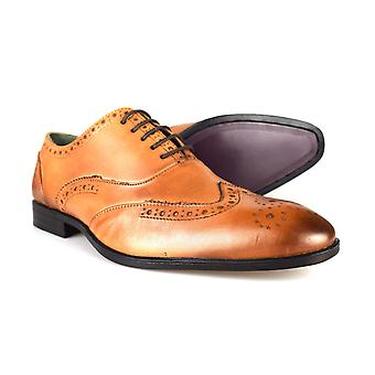 Silver Street London Oxford Mens Tan Leather Formal Shoes