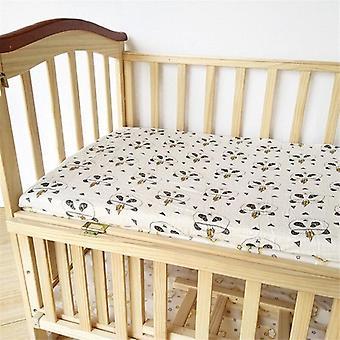 Drap de lit ajusté Cotton Muslin Baby, ensembles de literie doux et respirants pour nourrissons