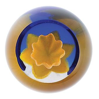 Caithness Glass Floral Charms Daffodil Paperweight
