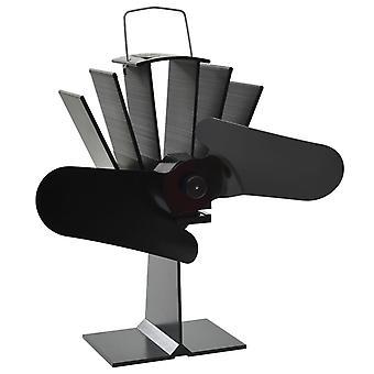 vidaXL Heat-powered chimney fan 2 sheets Black