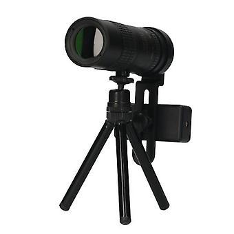 K10X-300X単眼望遠鏡コンパクト望遠鏡マルチコートBAK4プリズムモノキュラ、電話ホルダー三脚持ちバッグランヤードクリーンクロスを持つバードウォッチングハイキング
