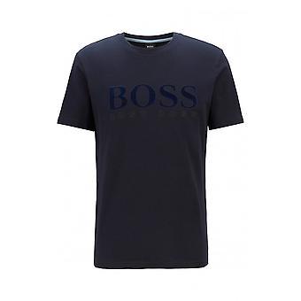 ヒューゴ ボス TLOGO コットン ネイビー Tシャツ