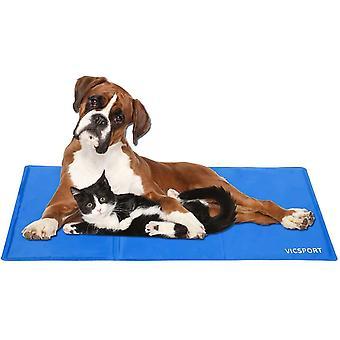 Kühlmatte für Hunde,Haustier Kühldecke für Hunde und Katzen Kühlkissen Kühl Hundedecke Kaltgelpad(90