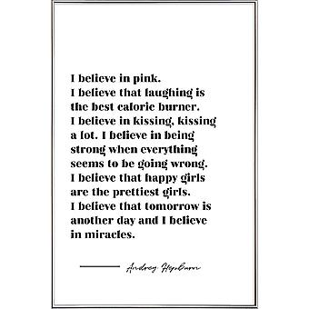 JUNIQE Print - Believe in Miracles - Motivation Poster in Black & White