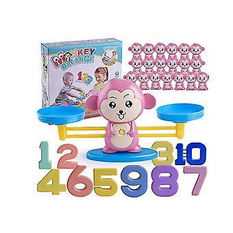 Rosa Affen Zahl Addition und Subtraktion Balance Spiel, Kinder pädagogische Spielzeug Lernwerkzeuge über 3 Jahre alt az9921