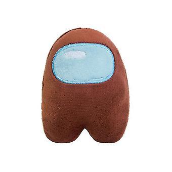 2 Adet 10cm kahverengi anime kurt adam öldürme bebek peluş oyuncak anime periferik, karikatür oyuncak dekoratif kolye az3085