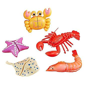 Sea food kids kitchen pizza seafood toy set dt5207