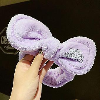 Πλύσιμο πρόσωπο μαλλιά κάτοχος hairbands κοραλλιογενή fleece κορίτσια Τουρμπάν αξεσουάρ μαλλιών μόδας (41#)