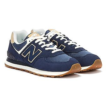 New Balance 574 Damen Blau / Tan Sneaker