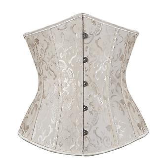 Gothic Retro Vintage Tapestry Steampunk Corset With Chain & Belt Halloween Costume Top