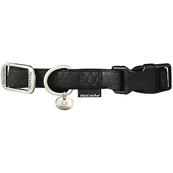 Nayeco Collare per cani Macleather in nylon nero