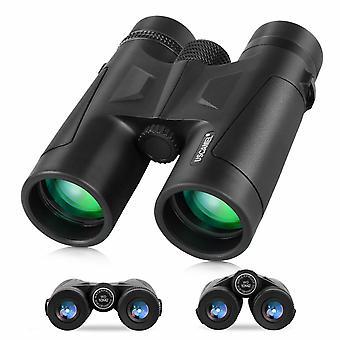 Lornetka 10X42 dla dorosłych, z pryzmatem BAK4, obiektywem FMC, kompaktową lornetką HD do oglądania ptaków Travel Stargazing Hunting Camping Concerts Sports,(czarny)